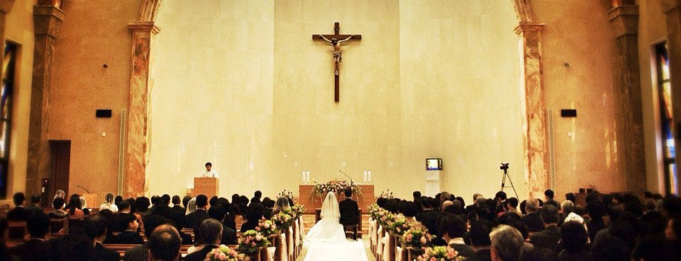 Hochzeit in einer Kirche