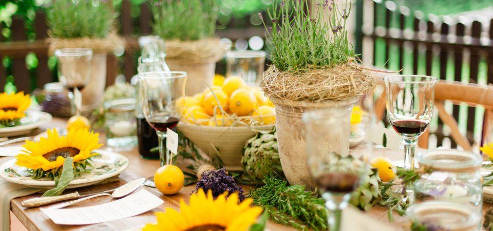 Italian Style Tischdeko