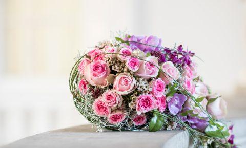 abfließender Brautstrauß