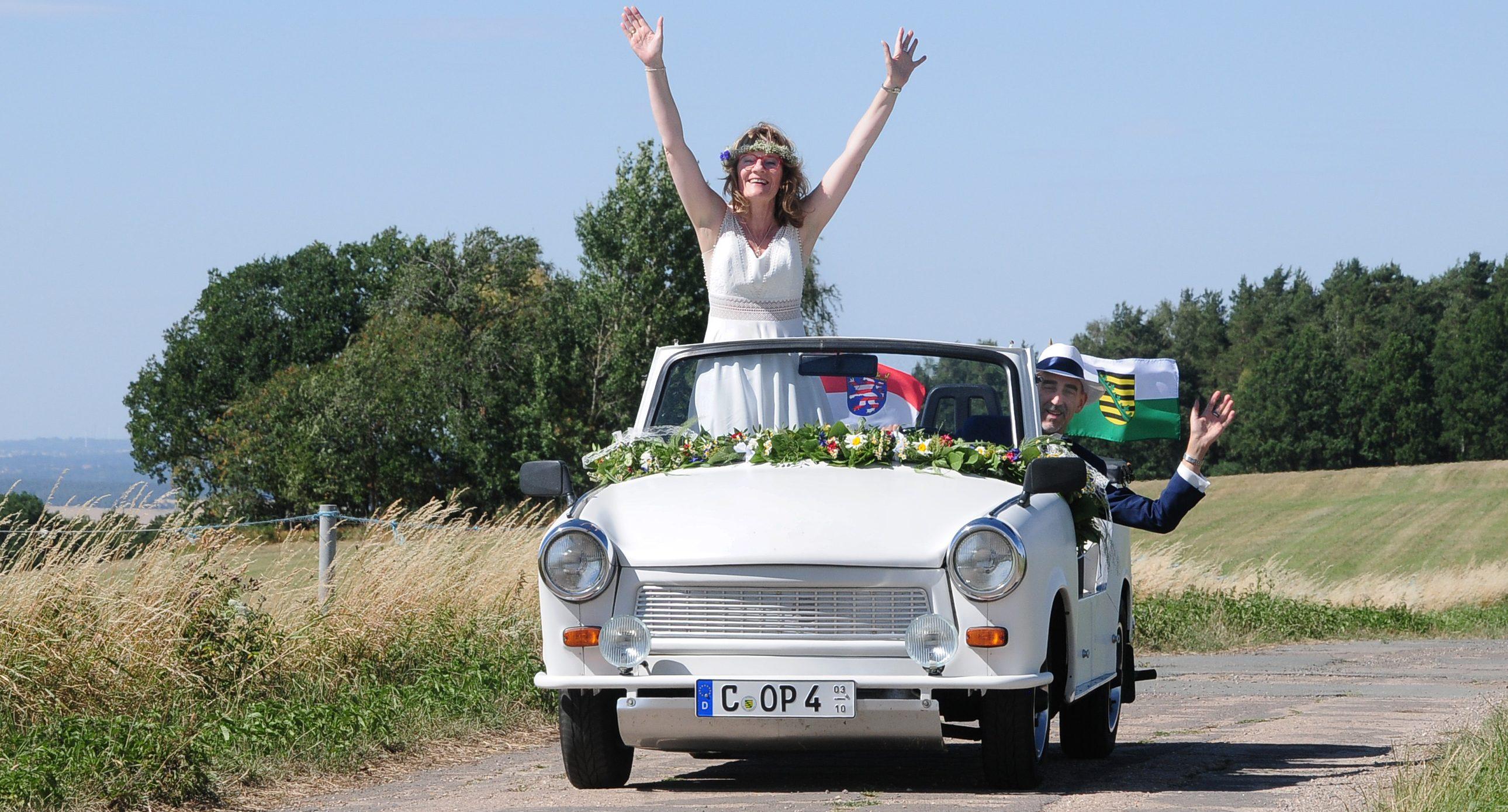 Trabi als Hochzeitsauto